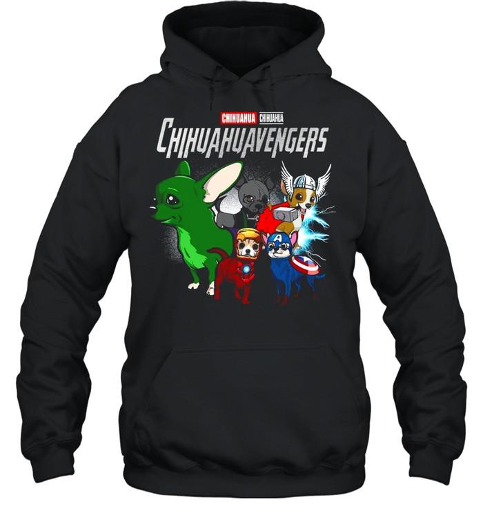 Marvel Avengers Chihuahua Chihuahuavengers shirt Unisex Hoodie