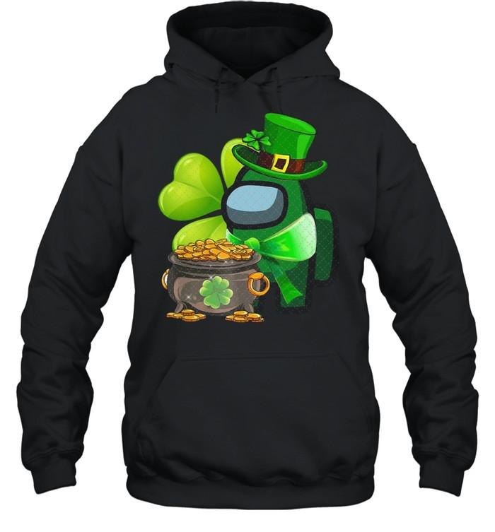 Among Us St Patrick's Day 2021 Shamrock Lucky shirt Unisex Hoodie