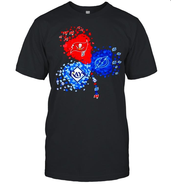 Clover Tampa Bay Tb Buccaneers Tb Lightning Tb Rays Heart shirt Classic Men's T-shirt