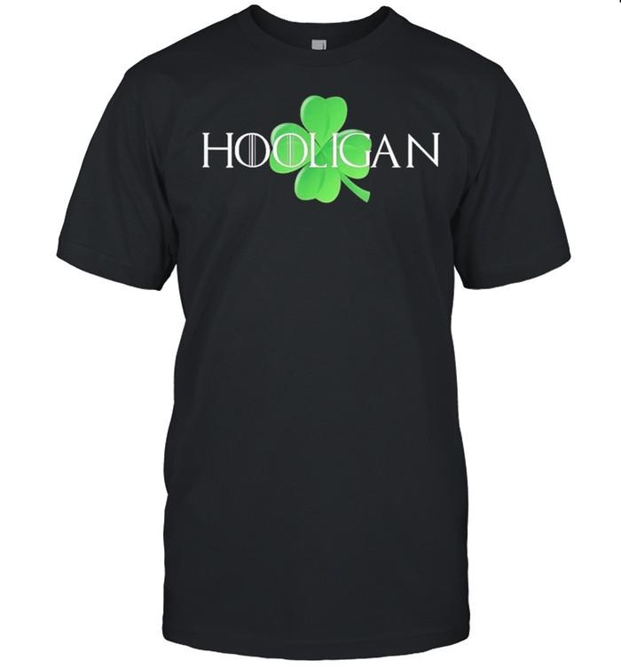 Hooligan St Patricks Day Gift Funny Teen Kids Moms Matching shirt Classic Men's T-shirt