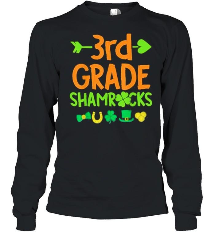 3rd Grade Shamrock St Patricks Day shirt Long Sleeved T-shirt