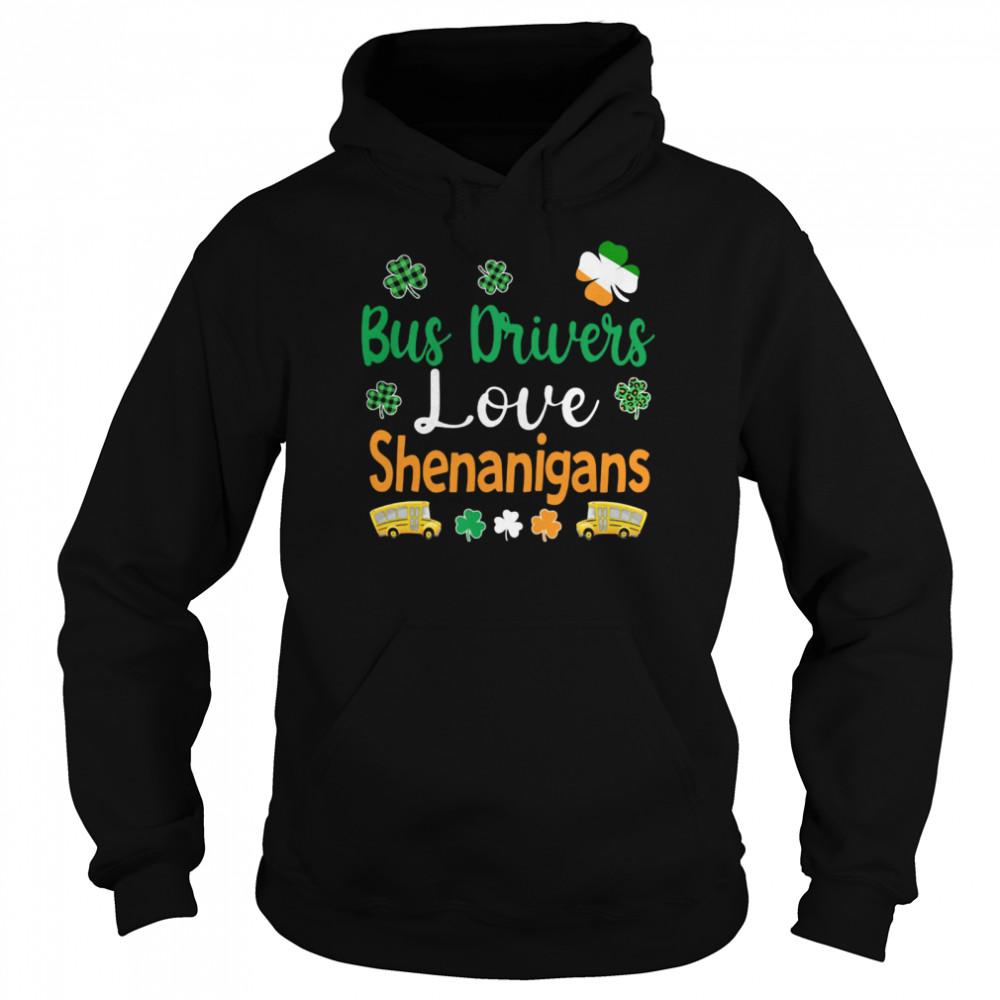 Bus Drivers Love Shenanigans shirt Unisex Hoodie