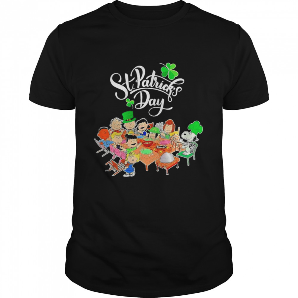 Snoopy Charlie Brown And Friends Party Happy St Patricks Day 2021 shirt Classic Men's T-shirt