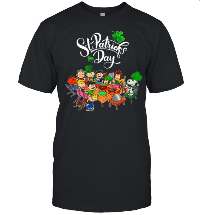 Snoopy And The Peanut Movie Party Happy St Patricks Day shirt Classic Men's T-shirt