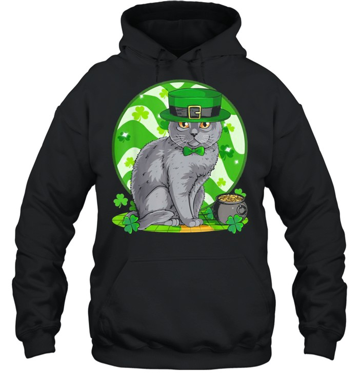 Awesome Chartreux Cat Leprechaun St. Patricks Day Unisex Hoodie