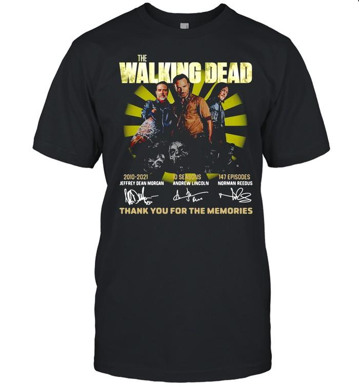 The Walking Dead 2010 2021 10 Seasons 147 Episodes Jeffery Dean Morgan Andrew Lincoln Morman Reedus T-shirt Classic Men's T-shirt