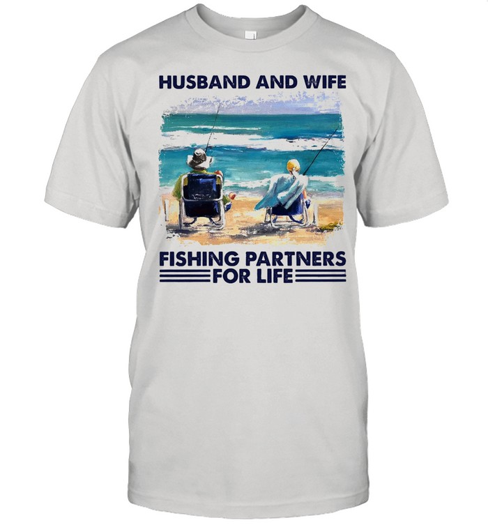 Husband and wife fishing partners for life shirt Classic Men's T-shirt