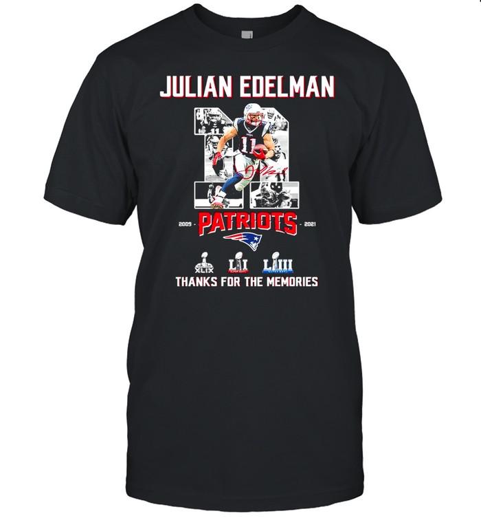 11 Julian Edelman Patriots Thanks For The Memories  Classic Men's T-shirt