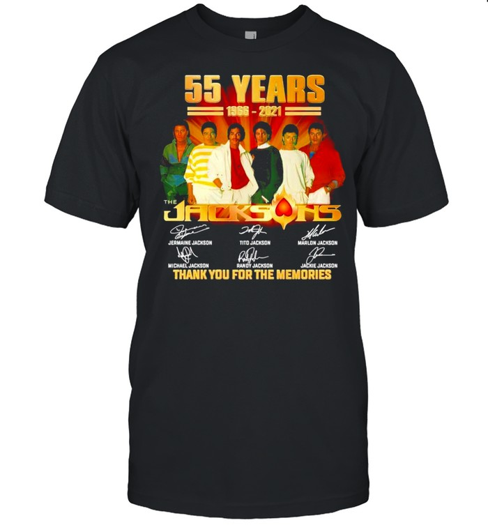 55 years The Jacksons 1966 2021 thank you for the memories shirt Classic Men's T-shirt