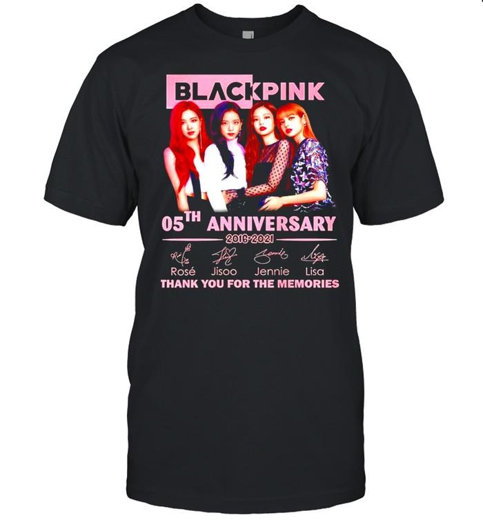 Black Pink 05th Anniversary 2016 2021 thank you for the memories shirt Classic Men's T-shirt