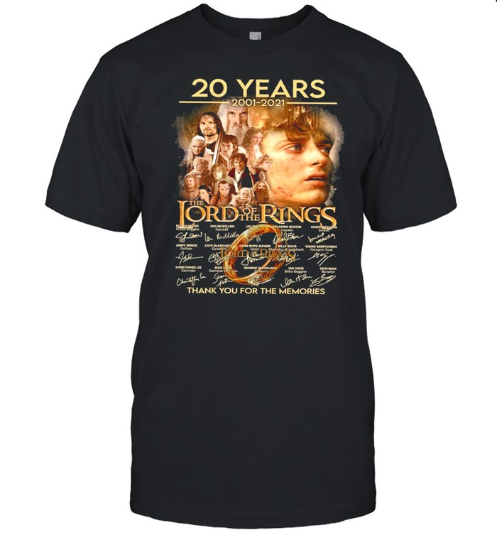 20 years 2001 2021 the lord of the rings thank you for the memories shirt Classic Men's T-shirt