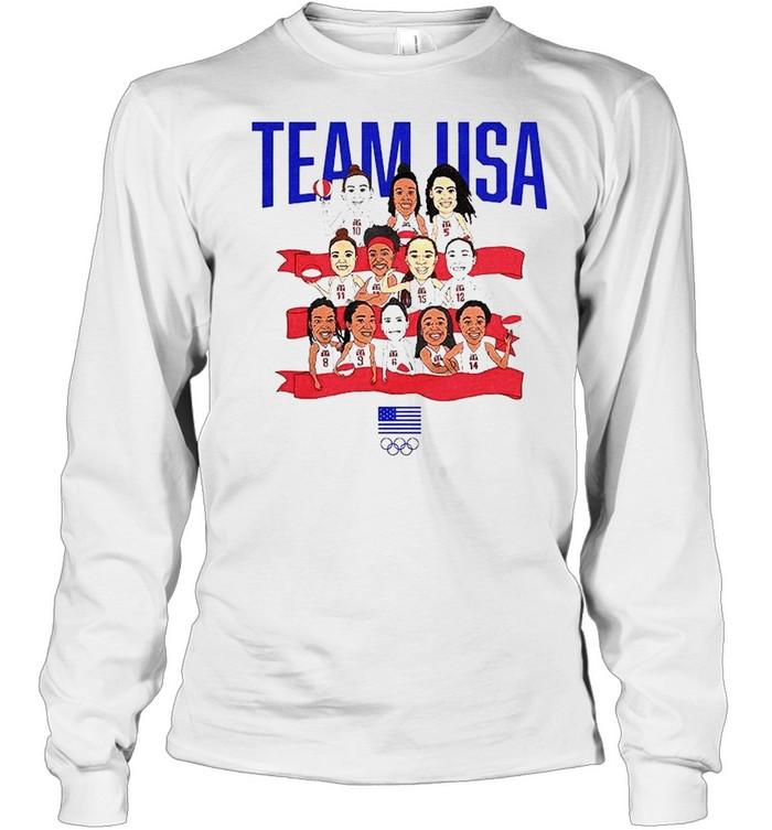 Team USA WBB Gold in Tokyo shirt Long Sleeved T-shirt