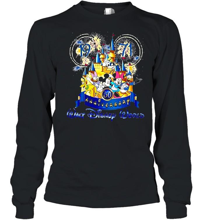 19 71 50th Anniversary Walt Disney World T-shirt Long Sleeved T-shirt