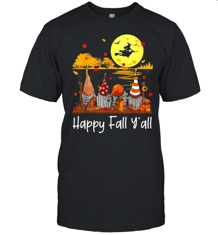 Autumn Gnomes Halloween Happy Fall Y'all Gnome Friend Pumpkin T-shirt Classic Men's T-shirt