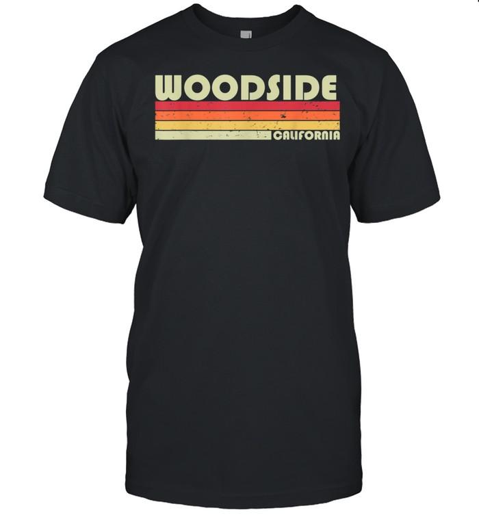 WOODSIDE CA CALIFORNIA City Home Roots Retro 80s shirt Classic Men's T-shirt