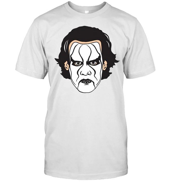 Wwe Sting Illustration Head T-shirt Classic Men's T-shirt
