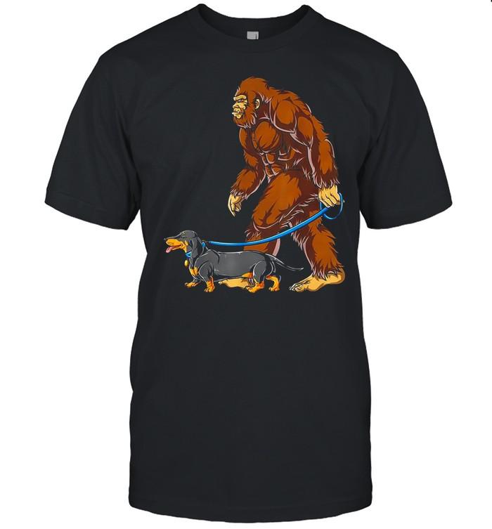 Bigfoot Dog Walk Dachshund shirt Classic Men's T-shirt