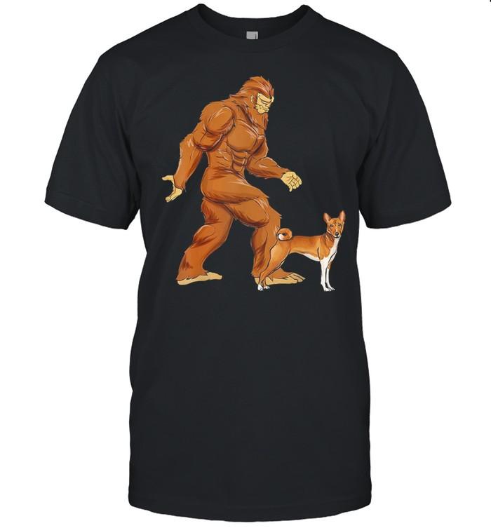 Bigfoot Walking Basenji Classic shirt Classic Men's T-shirt