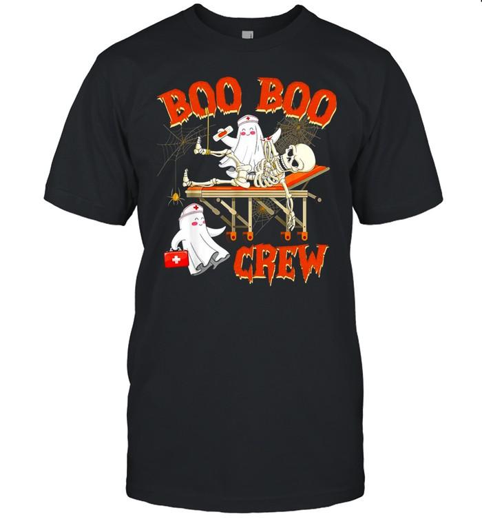 Witch Skeleton Boo Boo Crew Halloween T-shirt Classic Men's T-shirt