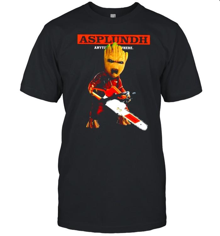 Baby Groot Asplundh anytime anywhere shirt Classic Men's T-shirt