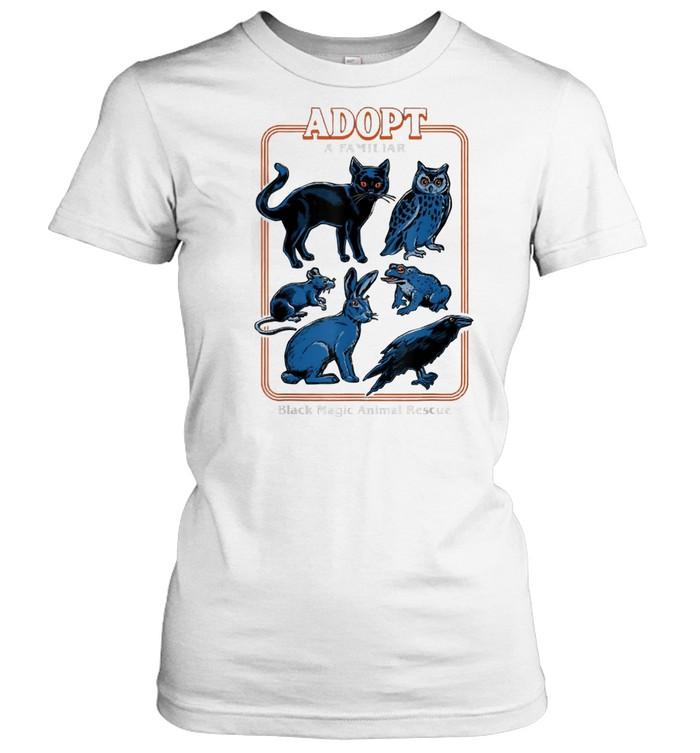 Adopt a familiar black magic animal rescue shirt Classic Women's T-shirt