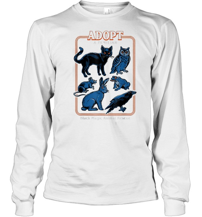 Adopt a familiar black magic animal rescue shirt Long Sleeved T-shirt