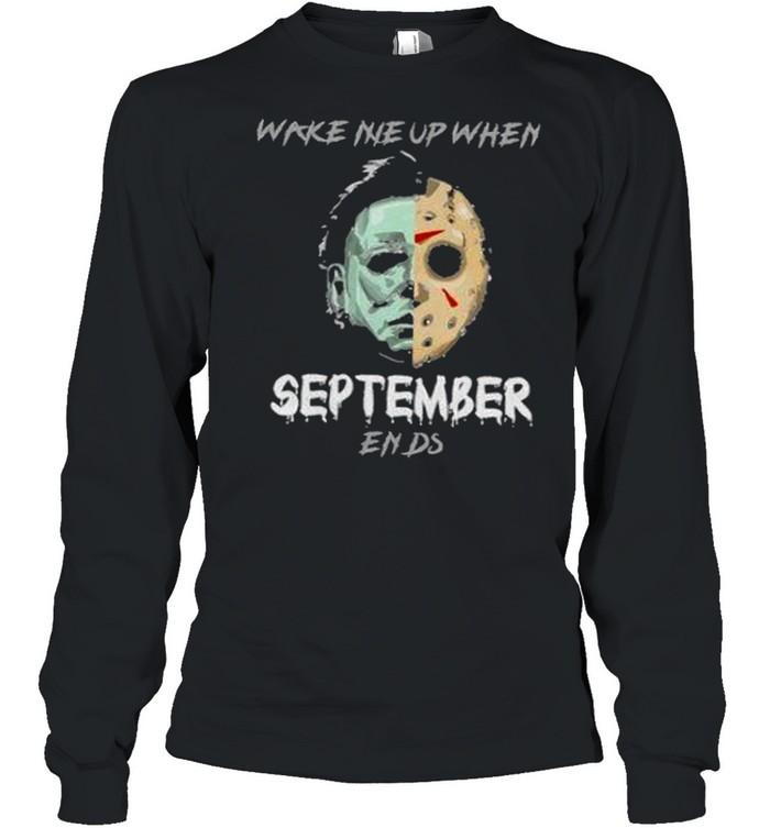 Horror Character Mirror Water Halloween t Long Sleeved T-shirt