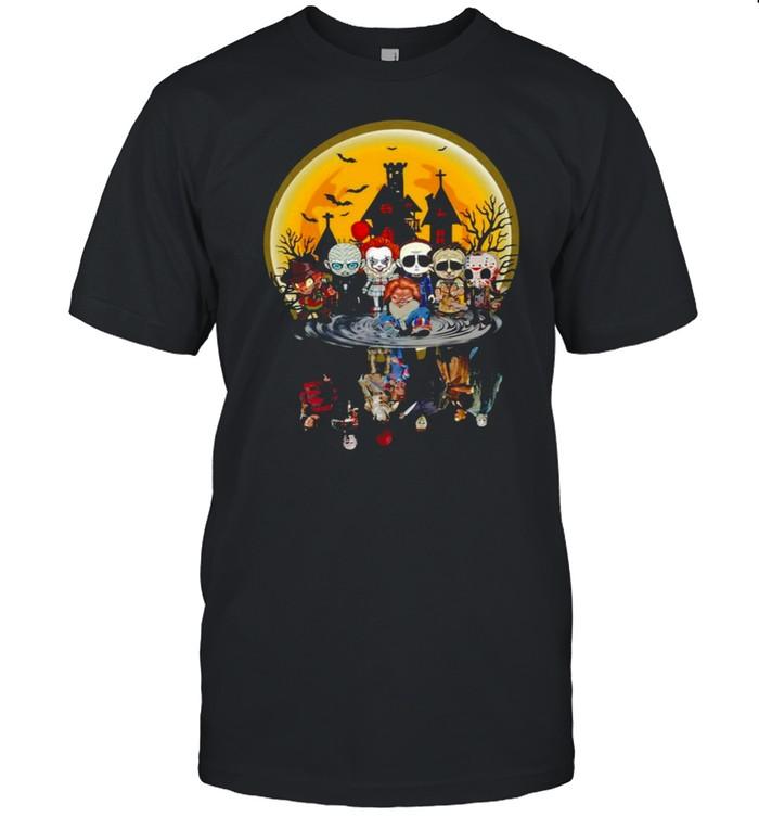 Horror Characters Water Effect Halloween Shirt
