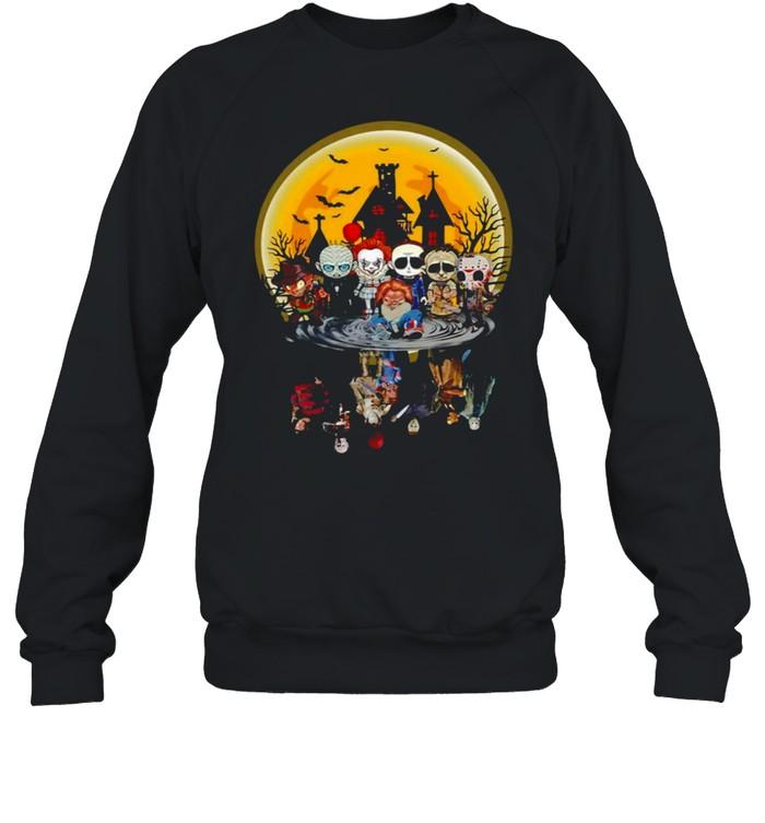 Horror Characters Water Effect Halloween Unisex Sweatshirt