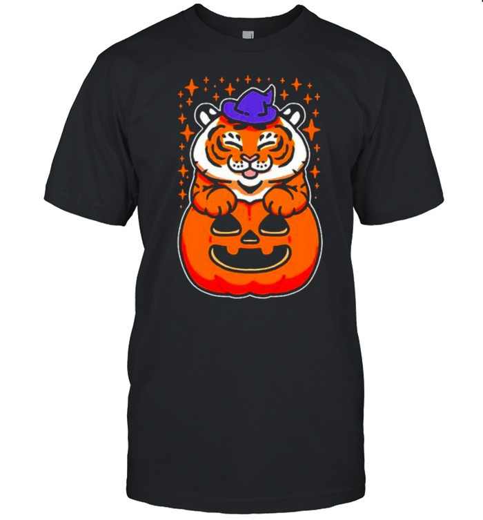 Witch tiger happy Halloween shirt
