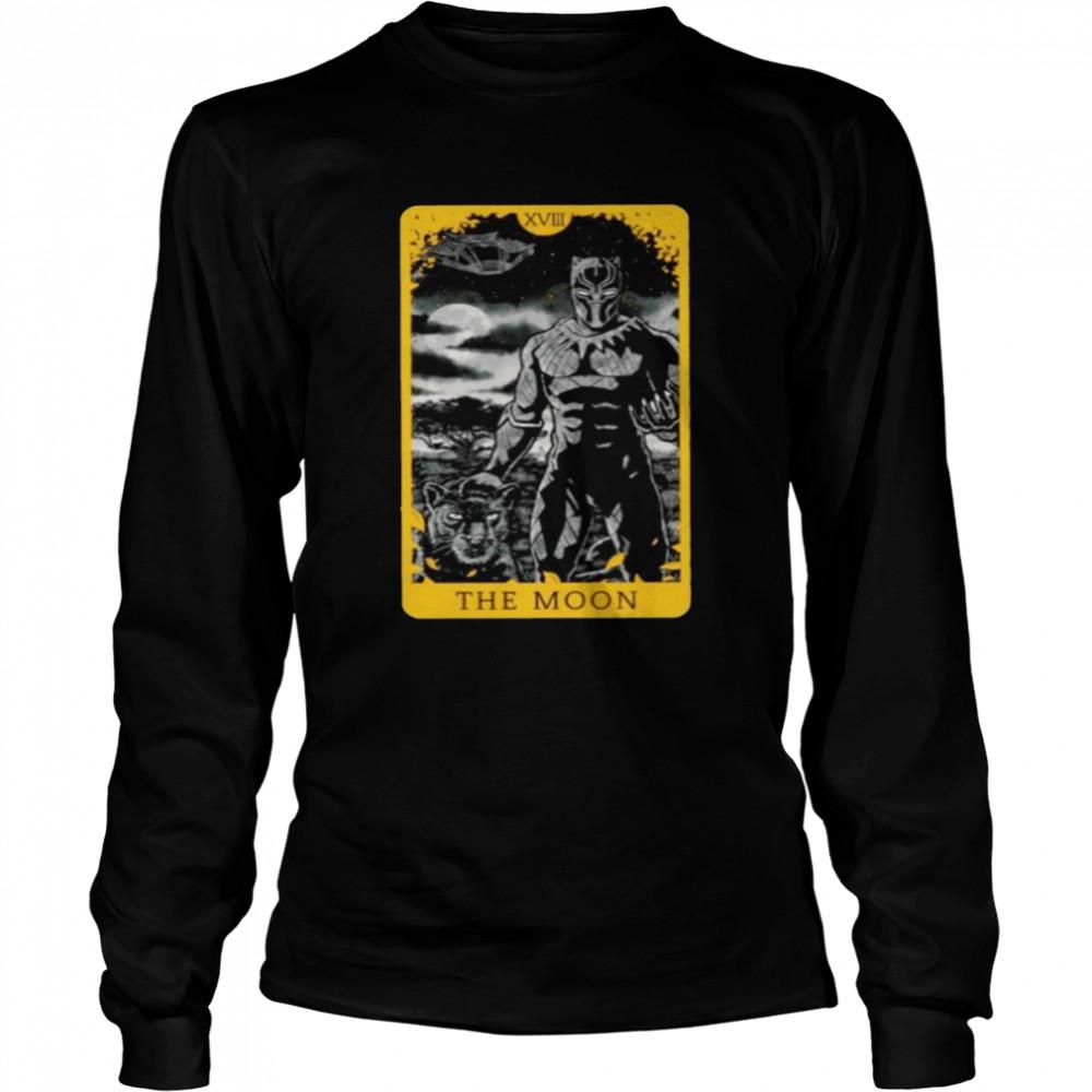Black Panther the moon shirt Long Sleeved T-shirt
