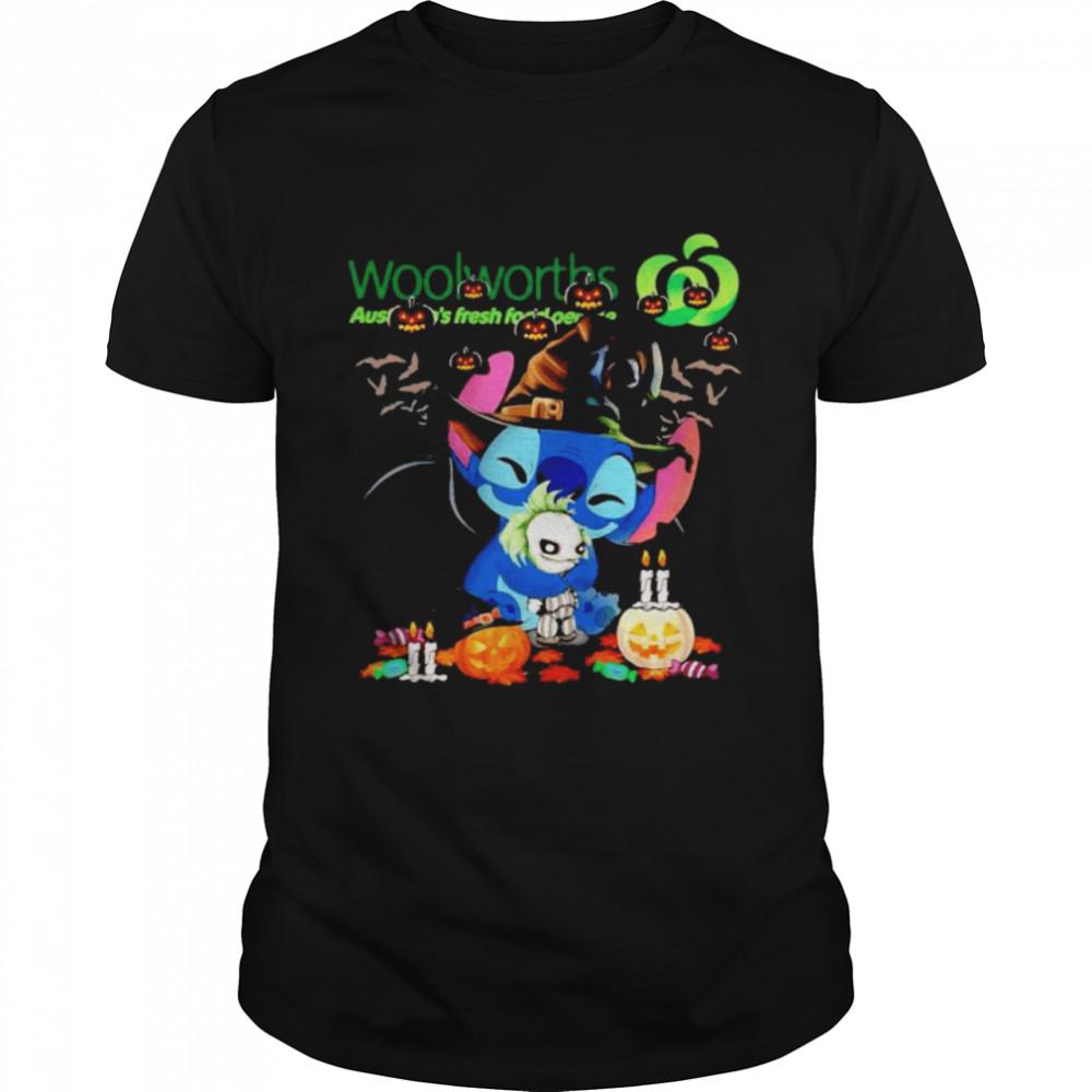 Woolworths Stitch hug Joker happy Halloween shirt