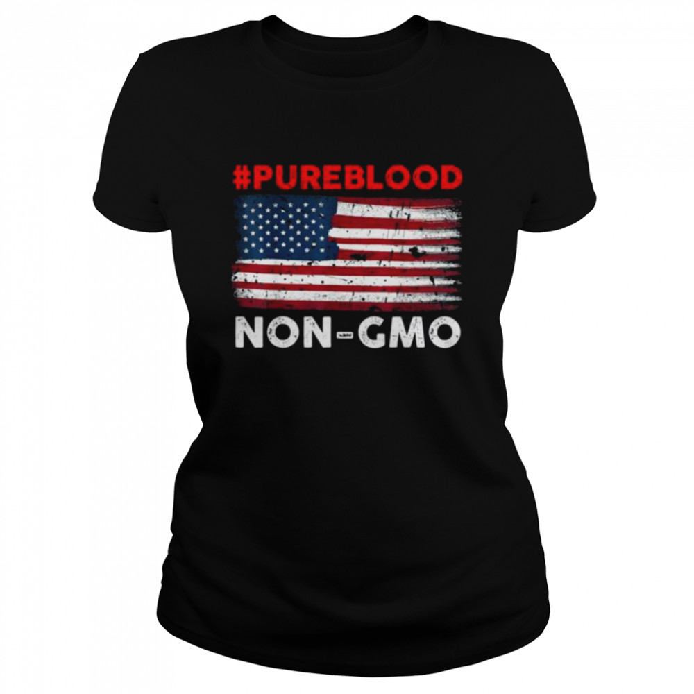 #Pureblood Non-Gmo American flag shirt Classic Women's T-shirt