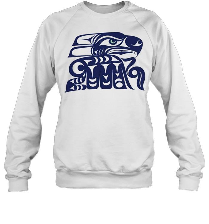 Indian Tribe Coast Salish Inspired Seahawks shirt Unisex Sweatshirt