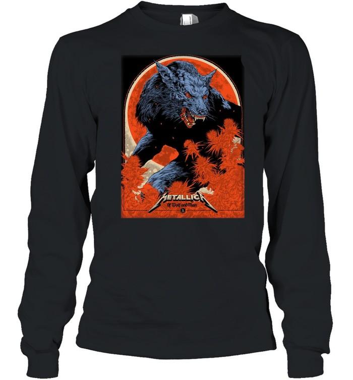 Metallica Ken Taylor Of Wolf And Man shirt Long Sleeved T-shirt