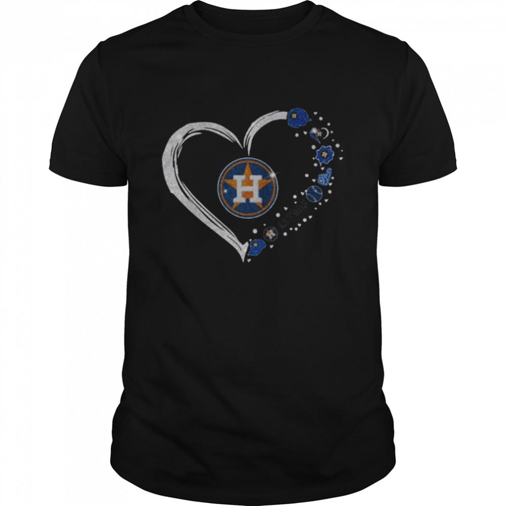 Diamonds Heart Love Houston Astros 2021 Shirt